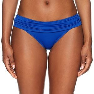 LA Blanca band hipster bikini swimsuit button